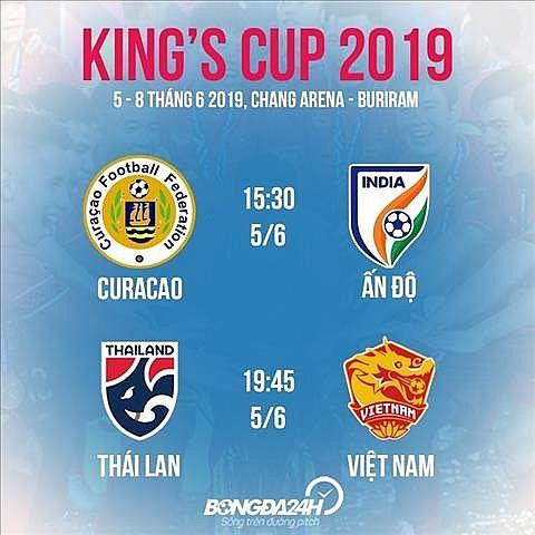 toan bo lich thi dau kings cup 2019 cua dt viet nam
