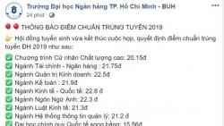 diem chuan nam 2019 truong dai hoc cong nghe tp hcm