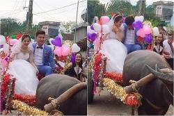 Được rước dâu bằng xe trâu, cô dâu cười hạnh phúc mãn nguyện