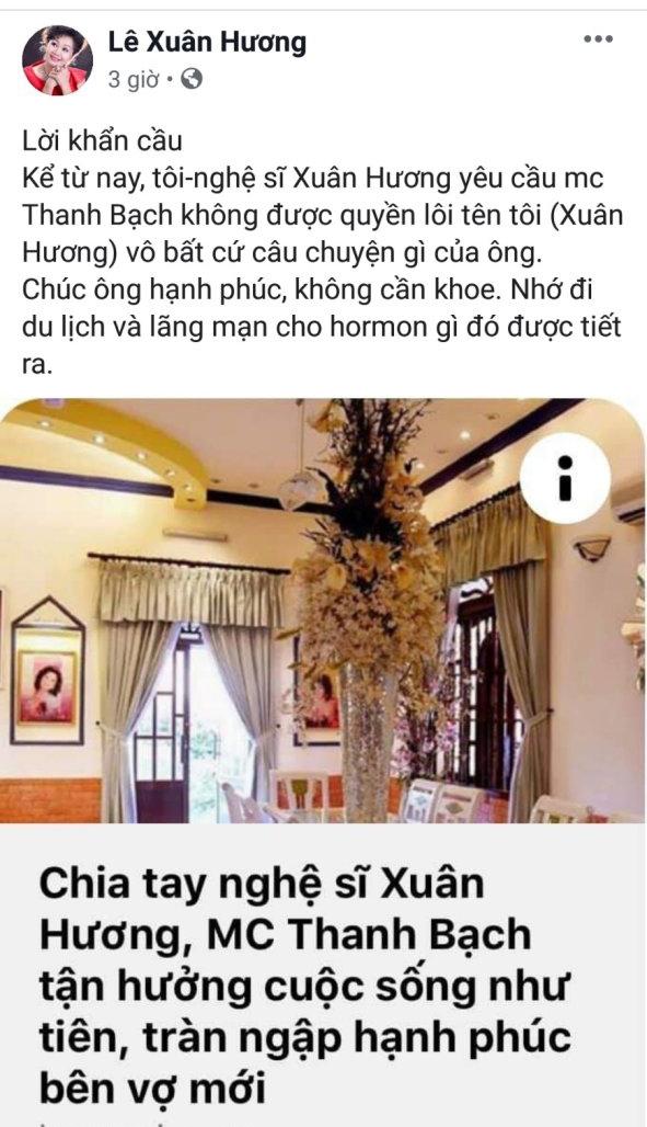 ns xuan huong yeu cau mc thanh bach khong loi ten ba vao bat cu cau chuyen nao