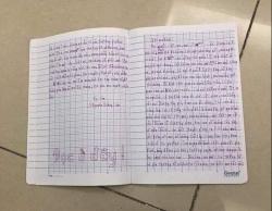 Xôn xao lá thư được cho là của bé gái 11 tuổi viết gửi bố mẹ trước khi nhảy lầu tự tử
