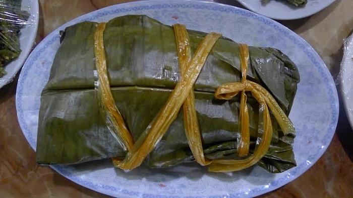 Thịt lợn xay hấp lá chuối (Ảnh: Tự hào Việt).