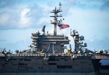 Tàu sân bay Mỹ tiến vào Biển Đông ngay sau khi ông Biden nhậm chức