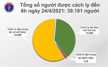 Sáng 24/4, thêm 2 ca mắc mới COVID-19 do nhập cảnh