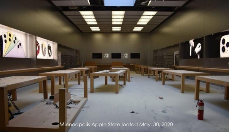 apple store o my tan hoang sau cuoc bao loan