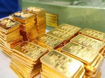 Giá vàng lên mức 57,5 triệu đồng/lượng