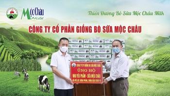 Mộc Châu Milk trao tặng hơn 50 nghìn sản phẩm sữa tươi tới người dân và lực  lượng tuyến đầu phòng chống dịch Covid-19