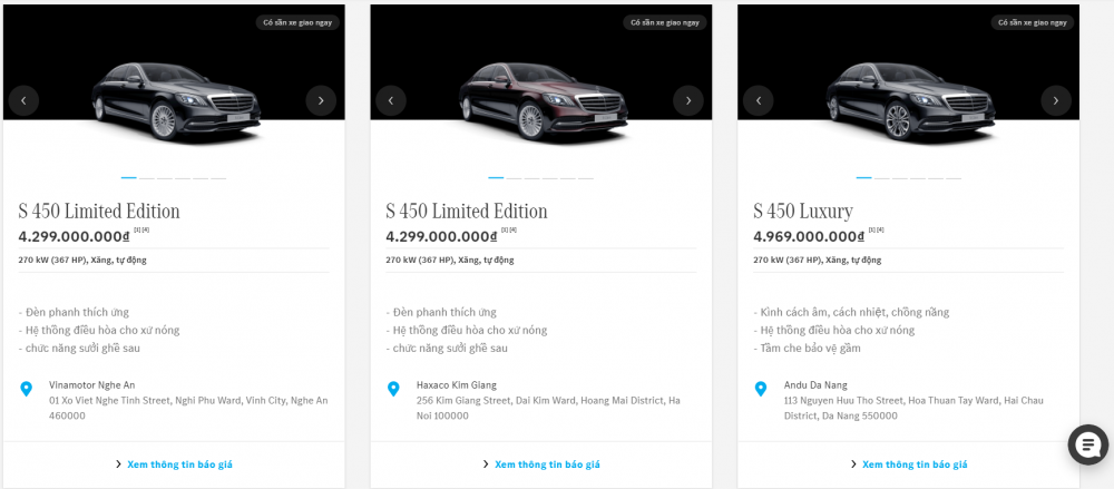 Showroom trực tuyến, điểm chạm mới của Mercedes-Benz Việt Nam