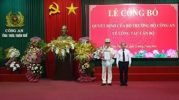 Chân dung Thượng tá Nguyễn Thanh Tuấn - tân Giám đốc Công an tỉnh Thừa Thiên - Huế