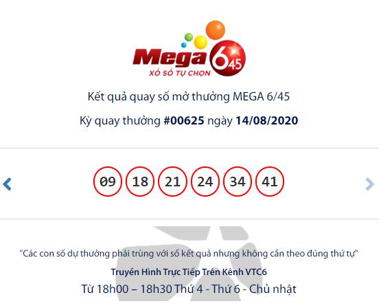 Kết quả xổ số Vietlott Mega 6/45 tối ngày 16/8/2020: Cơ hội trúng gần 17 tỷ đồng dành cho ai?