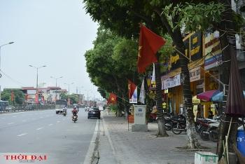 Chùm ảnh: Đường phố Hà Nội rợp cờ hoa đón Tết Độc lập 2/9