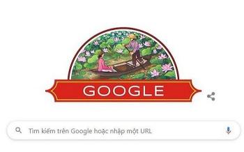 Google chào mừng ngày Quốc khánh Việt Nam với hình ảnh hoa sen