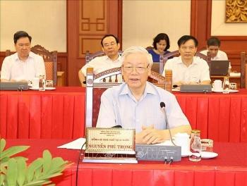 Tổng Bí thư, Chủ tịch nước Nguyễn Phú Trọng chủ trì buổi làm việc với Ban Thường vụ Thành ủy Hà Nội
