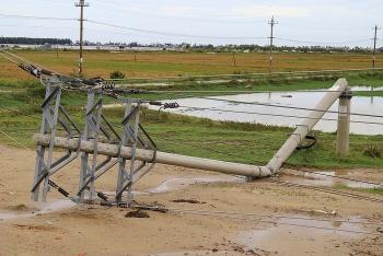 Hàng trăm cột điện bị gãy, đổ sau bão có thể do chất lượng kém?