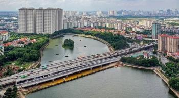 Hà Nội thông xe cầu vượt trị giá hơn 341 tỷ đồng qua hồ Linh Đàm