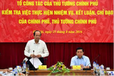 Thay đổi thành viên Tổ công tác của Thủ tướng Chính phủ