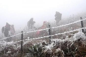 Tin không khí lạnh hôm nay: Mẫu Sơn xuống -1.4 độ C