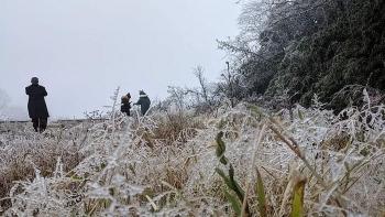 Không khí lạnh tăng cường, Mẫu Sơn xuống -3,4 độ C