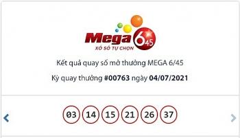 Kết quả xổ số Mega 6/45 ngày 7/7: Giải thưởng đã lên tới hơn 28 tỷ