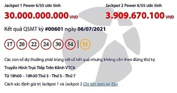 Kết quả Vietlott Power 6/55 ngày 8/7: Tìm chủ nhân của giải thưởng gần 32 tỷ