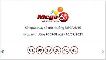 Kết quả xổ số Mega 6/45 ngày 18/7: Gần 14 tỷ đồng chờ chủ nhân