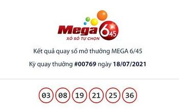 Kết quả xổ số Mega 6/45 ngày 21/7: Hơn 15 tỷ chờ chủ nhân