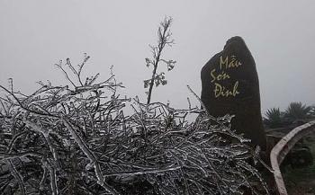 Thông tin không khí lạnh hôm nay: Mẫu Sơn ghi nhận 2,1 độ C
