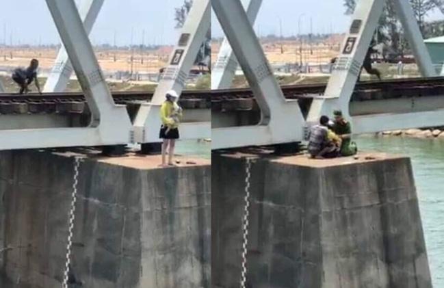Màn giải cứu nghẹt thở người phụ nữ ôm con nhảy sông tự tử  ở Phú Yên